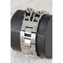 Gri Renk Zincirli Metal Kordon Metal Kasa Tasarımlı Kadın Saat