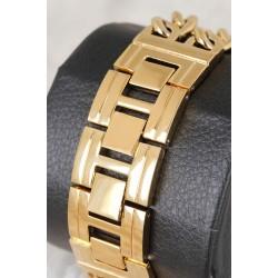 Dore Renk Zincirli Metal kordon Metal Kasa Tasarımlı Kadın Saat