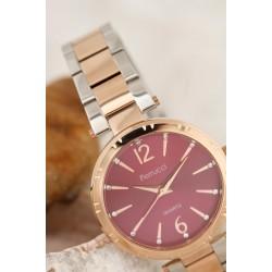 Gri Renk Metal Kordon Tasarımlı Kadın Saat